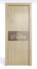 Дверь межкомнатная DO-501 Анегри светлый/зеркало Бронза