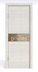 Дверь межкомнатная DO-509 Ива светлая/зеркало Бронза