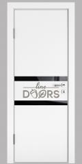 ШИ дверь DO-613 Белый бархат/стекло Черное