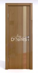 Дверь межкомнатная DO-507 Анегри темный/зеркало Бронза