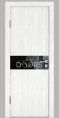 Дверь межкомнатная DO-509 Белый глубокий/стекло Черное