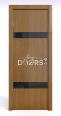 Дверь межкомнатная DO-502 Анегри темный/стекло Черное