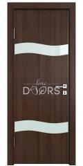 ШИ дверь DO-603 Мокко/стекло Белое