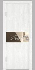 Дверь межкомнатная DO-501 Белый глубокий/зеркало Бронза
