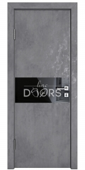 ШИ дверь DO-601 Бетон темный/стекло Черное