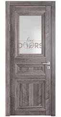 Дверь межкомнатная DO-PG4 Орех седой темный/Ромб