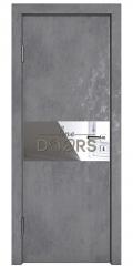 Дверь межкомнатная DO-501 Бетон темный/Зеркало