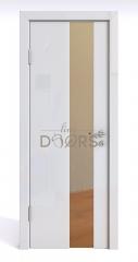 ШИ дверь DO-604 Белый глянец/зеркало Бронза