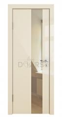 ШИ дверь DO-604 Ваниль глянец/зеркало Бронза