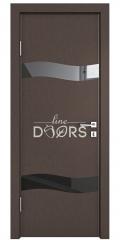 Дверь межкомнатная DO-503 Бронза/стекло Черное