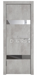 Дверь межкомнатная DO-502 Бетон светлый/Зеркало