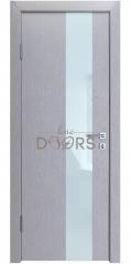 Дверь межкомнатная DO-504 Металлик/стекло Белое