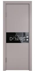 Дверь межкомнатная DO-501 Серый бархат/стекло Черное