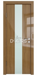 ШИ дверь DO-610 Анегри темный/стекло Белое
