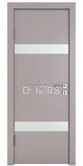 Дверь межкомнатная DO-502 Серый бархат/Снег