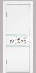 Дверь межкомнатная DO-513 Белый бархат/стекло Белое
