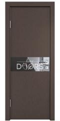 ШИ дверь DO-609 Бронза/стекло Черное