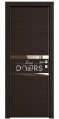 Дверь межкомнатная DO-513 Венге горизонтальный/зеркало Бронза
