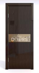 ШИ дверь DO-609 Венге глянец/зеркало Бронза