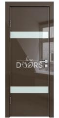 ШИ дверь DO-602 Шоколад глянец/стекло Белое