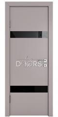 Дверь межкомнатная DO-502 Серый бархат/стекло Черное