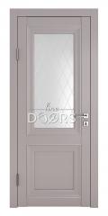 Дверь межкомнатная DO-PG2 Серый бархат/Ромб