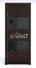 ШИ дверь DO-608 Венге горизонтальный/стекло Черное
