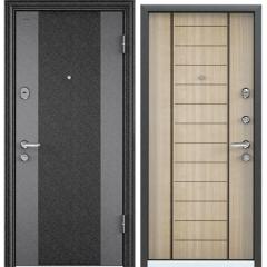Дверь TOREX SUPER OMEGA 08 Черный шелк / Венге светлое