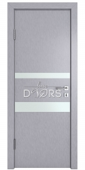 Дверь межкомнатная DO-512 Металлик/Снег