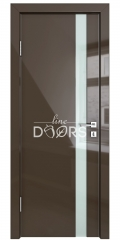 ШИ дверь DO-607 Шоколад глянец/стекло Белое