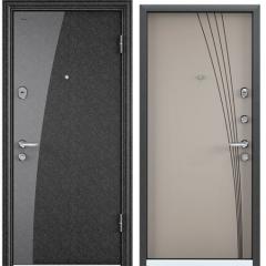 Дверь TOREX SUPER OMEGA 08 Черный шелк / Кремовый ликер