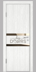 ШИ дверь DO-613 Белый глубокий/зеркало Бронза