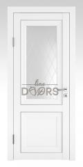 Дверь межкомнатная DO-PG2 Белый бархат/Ромб