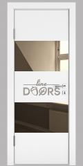 ШИ дверь DO-608 Белый бархат/зеркало Бронза