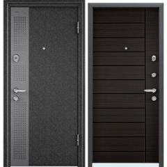 Дверь TOREX SUPER OMEGA 08 Черный шелк / Венге поперечное