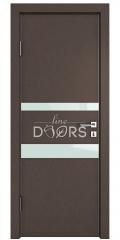 Дверь межкомнатная DO-512 Бронза/стекло Белое