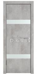 Дверь межкомнатная DO-502 Бетон светлый/Снег