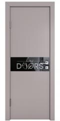 Дверь межкомнатная DO-509 Серый бархат/стекло Черное