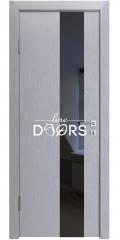 ШИ дверь DO-604 Металлик/стекло Черное