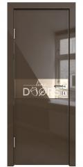 ШИ дверь DO-609 Шоколад глянец/зеркало Бронза