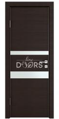Дверь межкомнатная DO-512 Венге горизонтальный/Снег