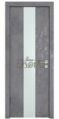 Дверь межкомнатная DO-510 Бетон темный/Снег