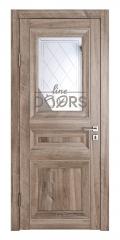 Дверь межкомнатная DO-PG4 Орех седой светлый/Зеркало ромб фацет