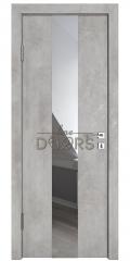 Дверь межкомнатная DO-510 Бетон светлый/Зеркало