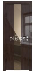 Дверь межкомнатная DO-510 Венге глянец/зеркало Бронза