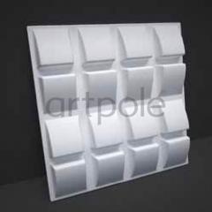 Гипсовая 3D панель Slope 600x600x40 мм