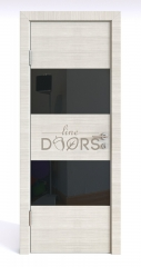 Дверь межкомнатная DO-508 Ива светлая/стекло Черное