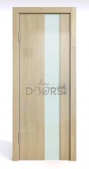 ШИ дверь DO-604 Анегри светлый/стекло Белое