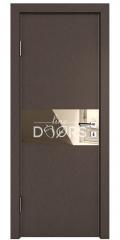Дверь межкомнатная DO-501 Бронза/зеркало Бронза