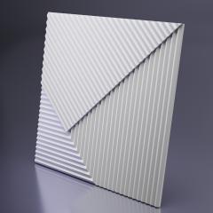 Гипсовая 3D панель FIELDS 2 Platinum материал матовый 600x600 мм